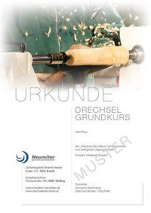 Urkunde Drechselgrundkurs